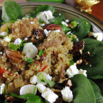 Quinoa with Marinated Pork and Peppers