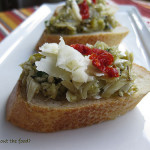 Artichoke Heart and Green Olive Crostini – The Large Batch