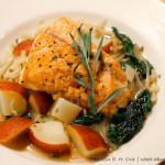 Seared Salmon in Dijon Beer Broth