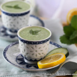 Cucumber Mint Soup with Lemon