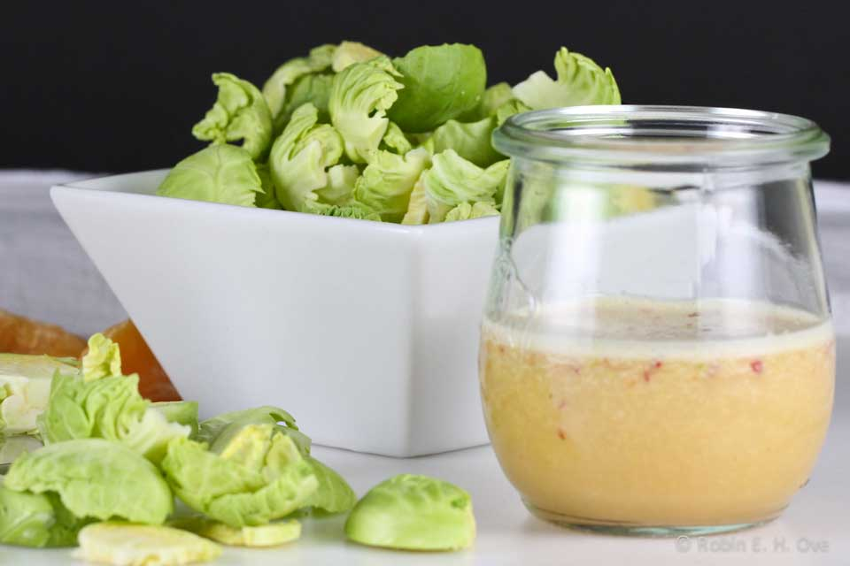 Brussels Sprout Salad with Chile Lime Dressing - What about the food?