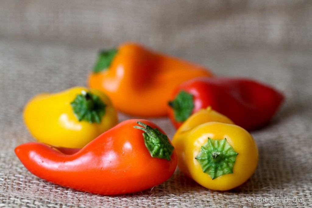 Mini Yellow Bell Pepper Mini Orange Red Yellow Bell