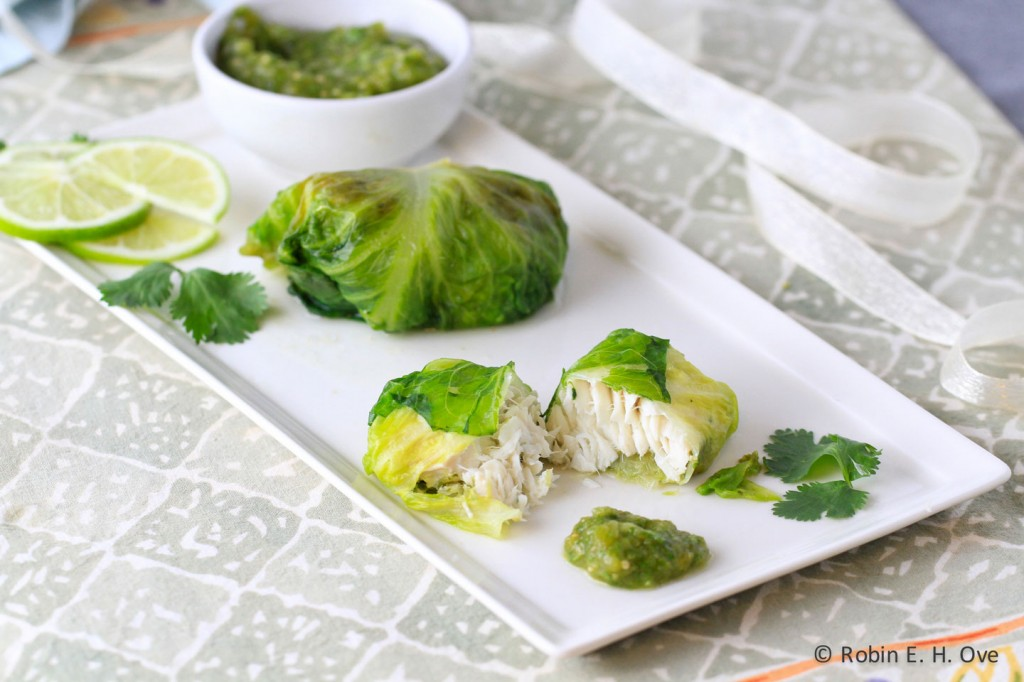Lettuce Wrapped Halibut