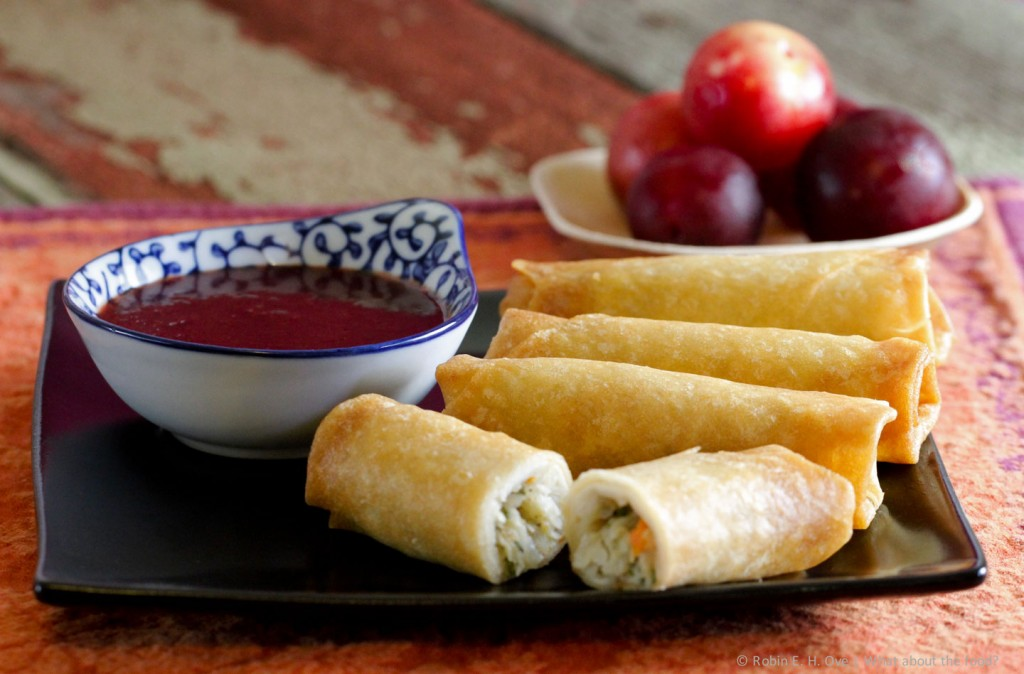 Plum Sauce with Eggrolls