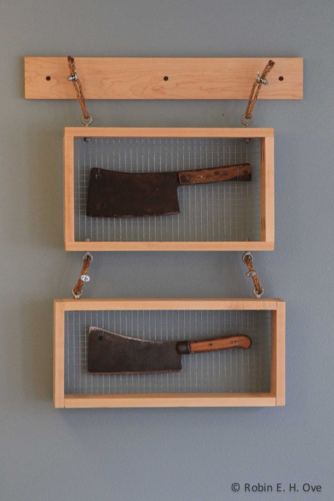 Framed butcher knives