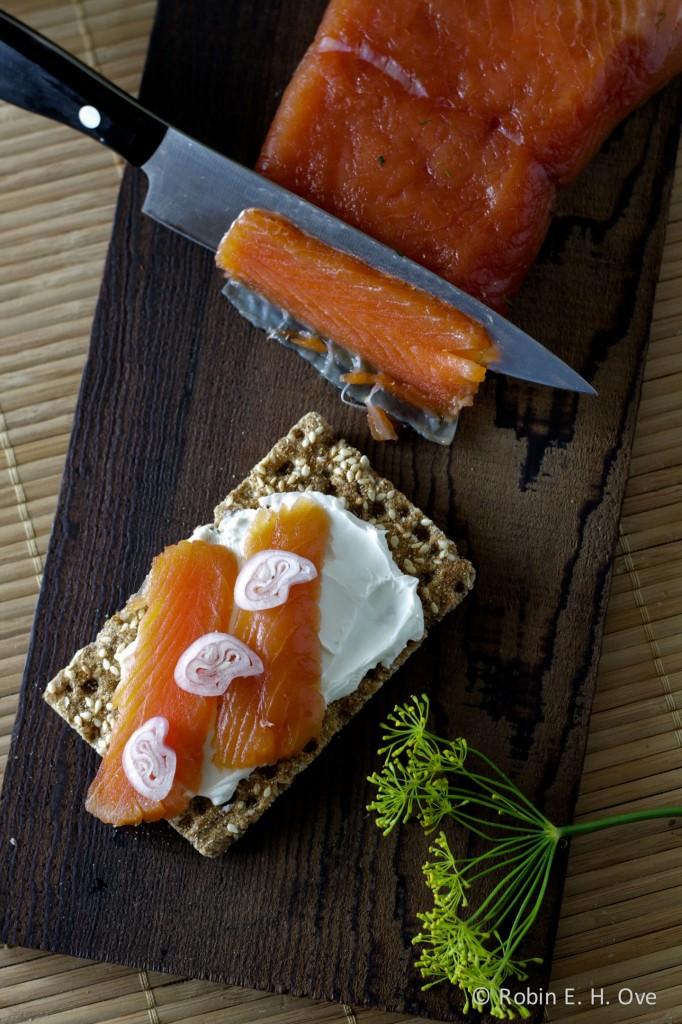 Gravlax Salmon Appetizer