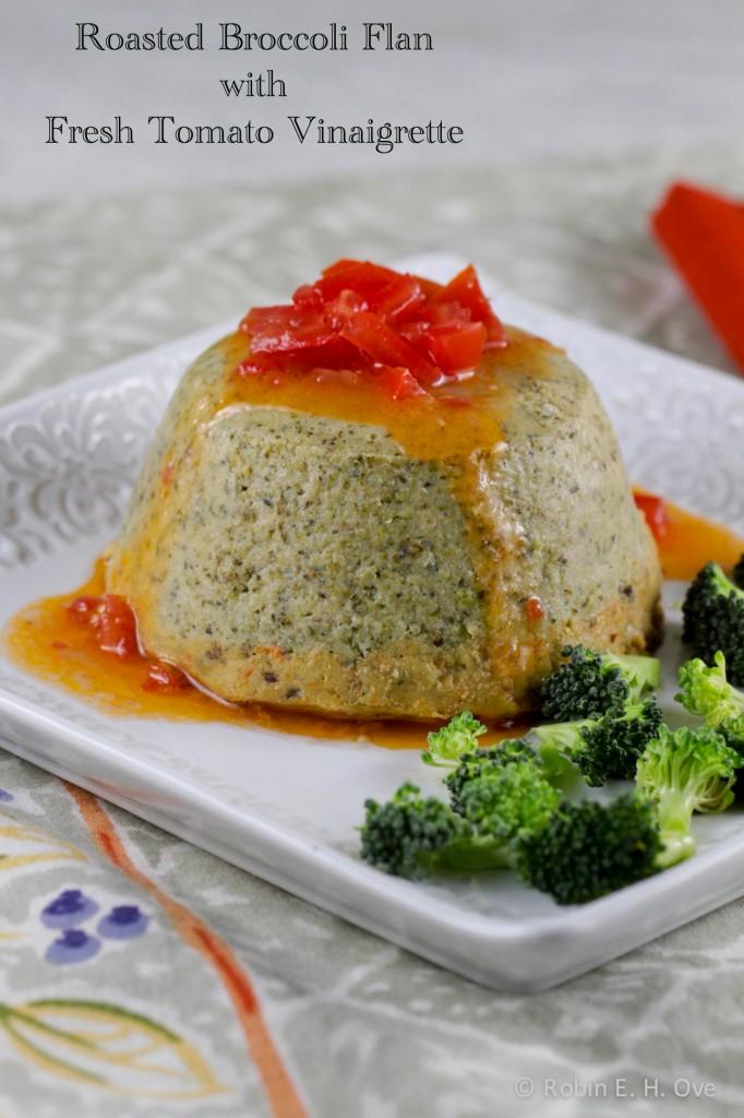 Roasted Broccoli Flan