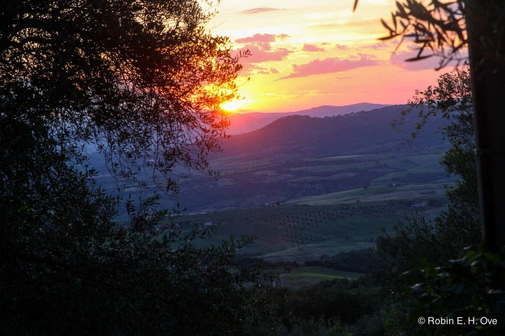 Sunset Val d' Orcia