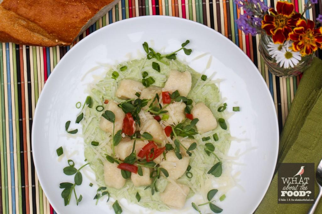 Ricotta Gnocchi in Fresh Pea Sauce