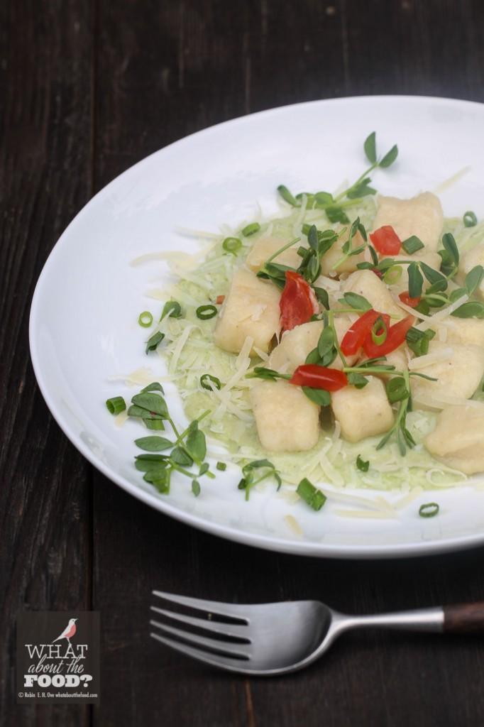 Ricotta Gnocchi with Fresh Pea Sauce