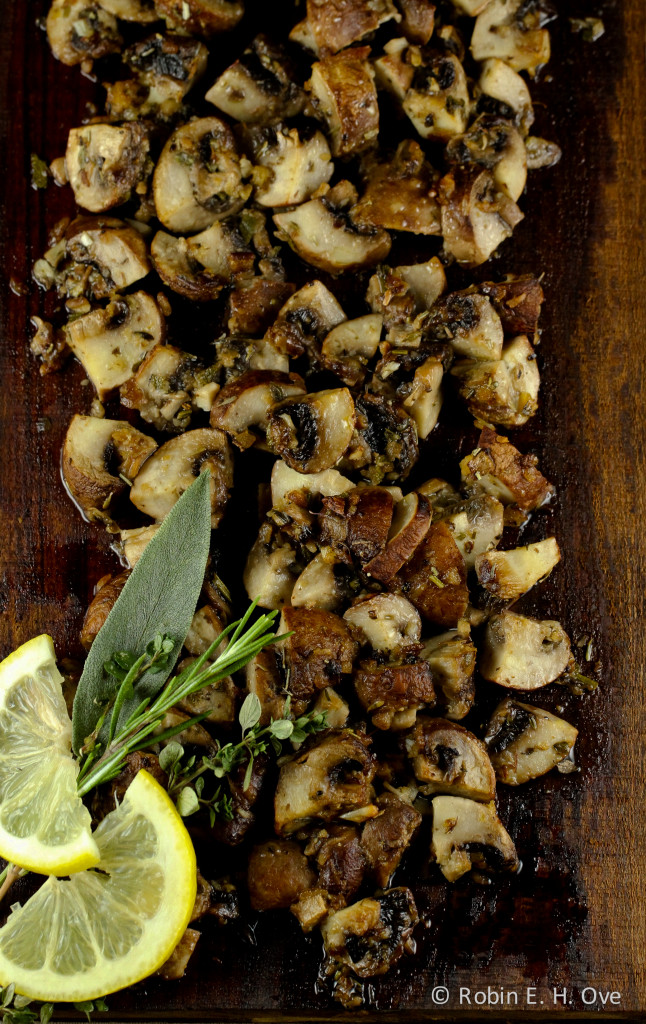 Plank Roasted Mushrooms
