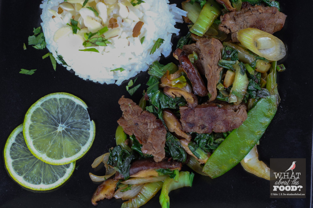 Coffee Marinated Steak Stirfry