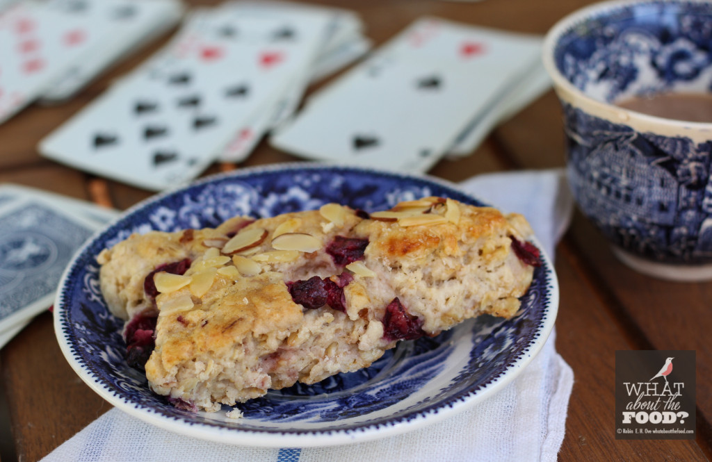 Oatmeal Cherry Scones and Playing Cards