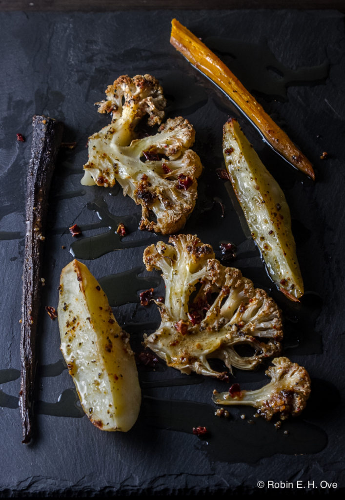 Roasted Cauliflower, Carrots and Potatoes © Robin E. H. Ove All rights reserved