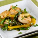 Shrimp and Asparatus Stirfry