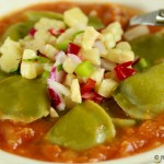 Southwest Style Raviolis with Sweet Corn Salsa