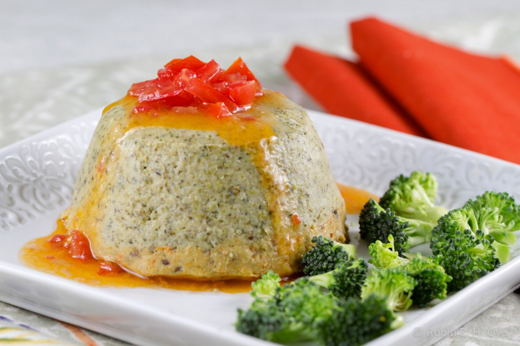 Roasted Broccoli Flan